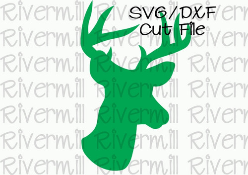 SVG DXF Deer Buck Silhouette Cut File