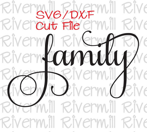 "SVG DXF ""Family"" Cut File"