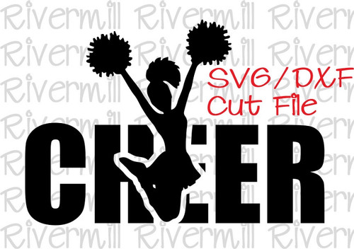SVG DXF Cheer Cut File
