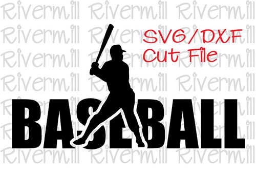 SVG DXF Baseball Cut File