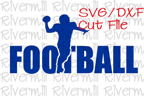 SVG DXF Football Cut File