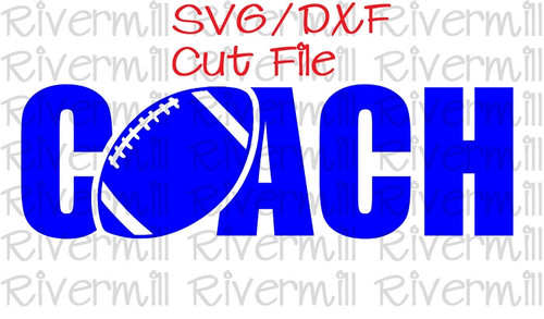 SVG DXF Football Coach Cut File