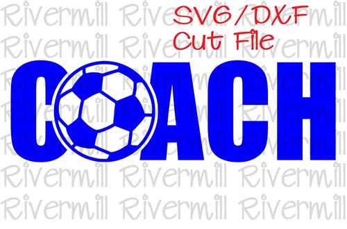 SVG DXF Soccer Coach Cut File
