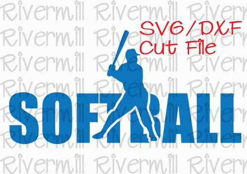 SVG DXF Softball Cut File