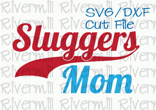 SVG DXF Sluggers Mom Cut File