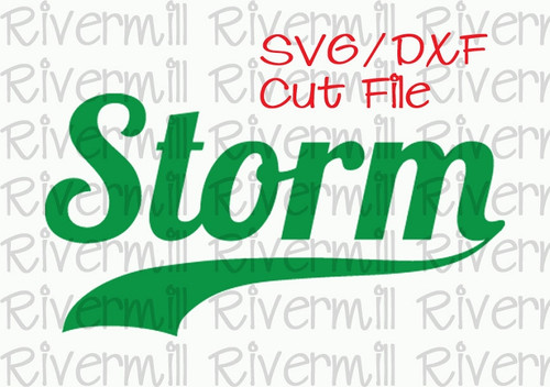 SVG DXF Storm with Swash Tail Cut File