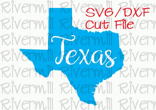 SVG DXF Texas Cut File