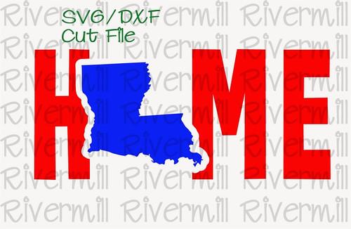 SVG DXF Louisiana Home Cut File