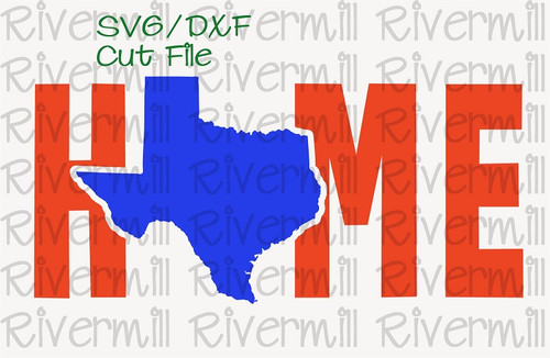 SVG DXF Texas Home Cut File