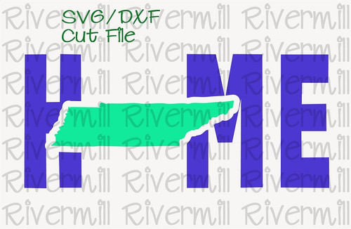 SVG DXF Tennessee Home Cut File