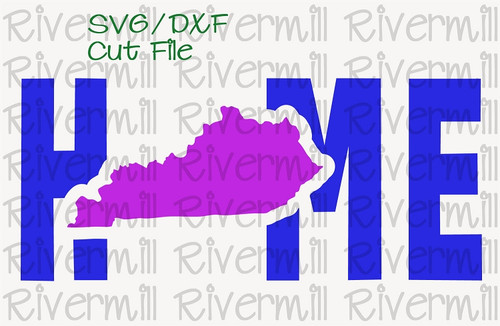 SVG DXF Kentucky Home Cut File