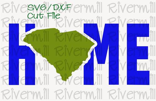 SVG DXF South Carolina Home Cut File
