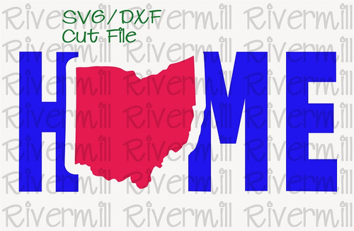 SVG DXF Ohio Home Cut File