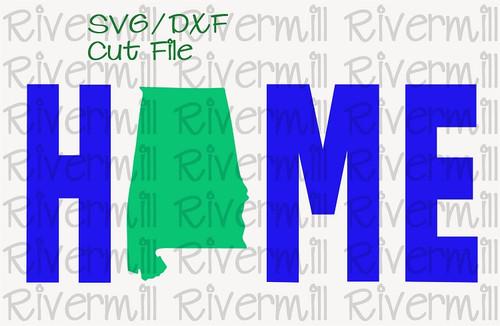 SVG DXF Alabama Home Cut File