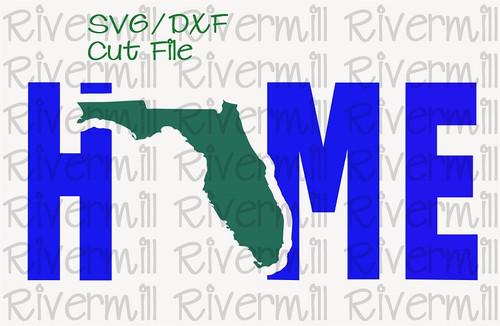 SVG DXF Florida Home Cut File