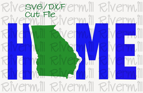 SVG DXF Georgia Home Cut File