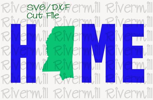 SVG DXF Mississippi Home Cut File
