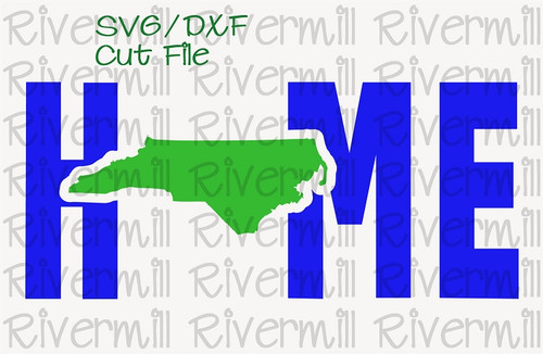 SVG DXF North Carolina Home Cut File