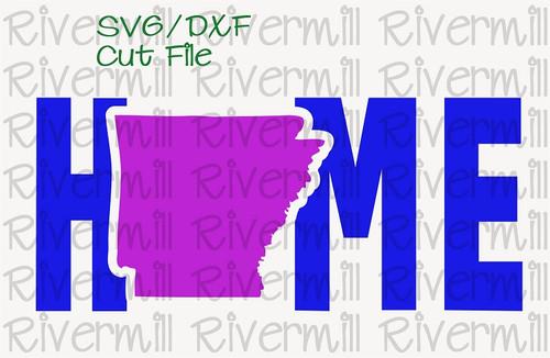 SVG DXF Arkansas Home Cut File