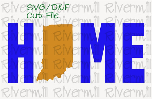 SVG DXF Indiana Home Cut File