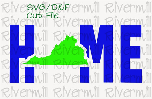 SVG DXF Virginia Home Cut File