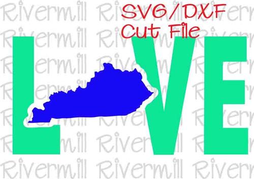 SVG DXF Kentucky Love Cut File