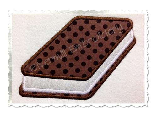 Applique Ice Cream Sandwich Machine Embroidery Design