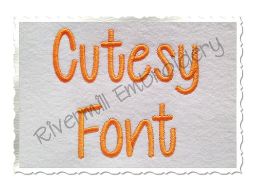 "1 1/2"" Inch Size ONLY Cutesy Machine Embroidery Font"