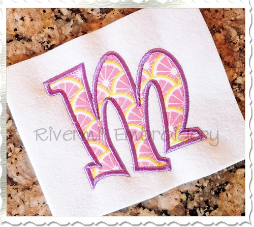 Ravie Applique Machine Embroidery Alphabet - 4x4 Size Only