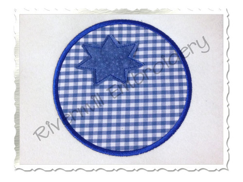 Applique Blueberry Machine Embroidery Design