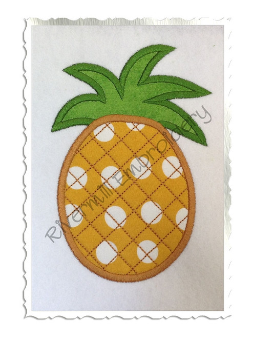 Pineapple Applique Machine Embroidery Design
