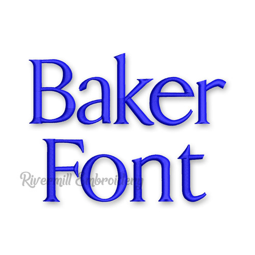 Baker Machine Embroidery Font