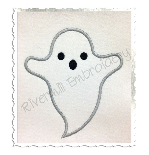 Ghost Applique Machine Embroidery Design (Version 2)