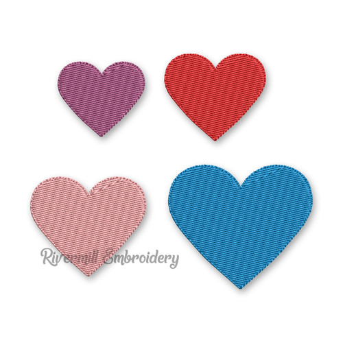 Small Heart Machine Embroidery Design