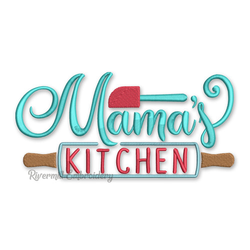 Mama's Kitchen Machine Embroidery Design