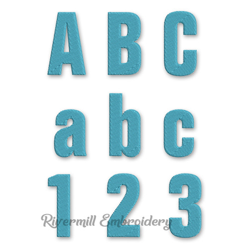 Block Machine Embroidery Alphabet - 2 Inch Size