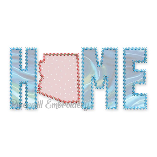Zig Zag Applique Arizona Home Machine Embroidery Design