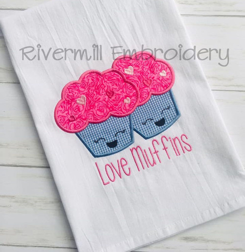 Love Muffins Machine Embroidery Design