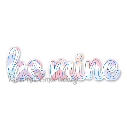 Raggy Applique Be Mine Machine Embroidery Design