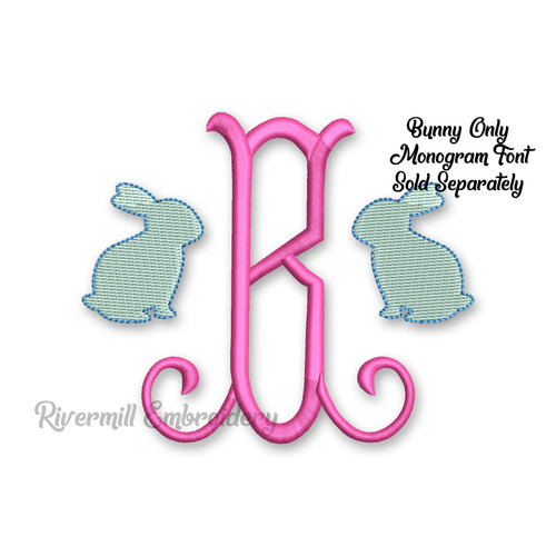 Small Mini Bunny Rabbit Machine Embroidery Design #2
