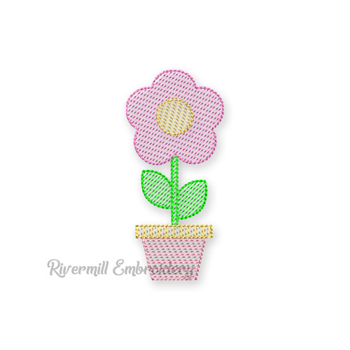 Spring Flower Machine Embroidery Design