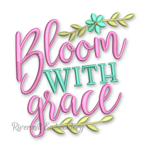 Bloom With Grace Machine Embroidery Design