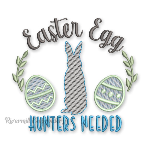 Easter Egg Hunters Needed Machine Embroidery Design
