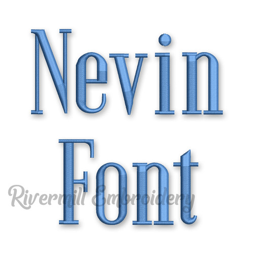 Nevin Machine Embroidery Font