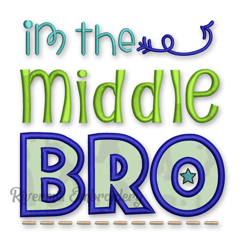Middle Bro Applique Machine Embroidery Design #2