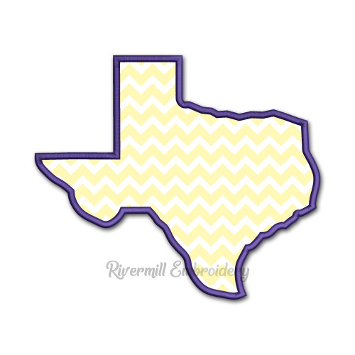 Large Applique State of Texas Machine Embroidery Design