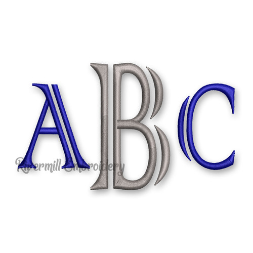 Colonial Monogram Machine Embroidery Font Alphabet