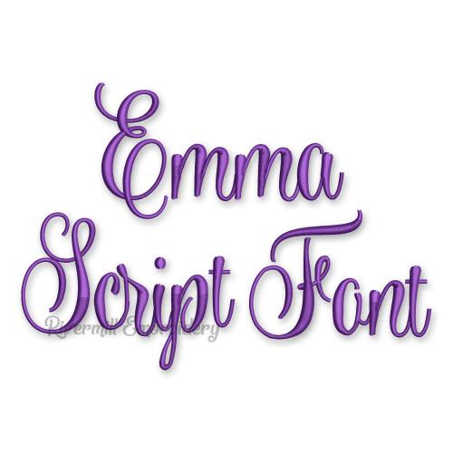 Emma Script Machine Embroidery Font Alphabet