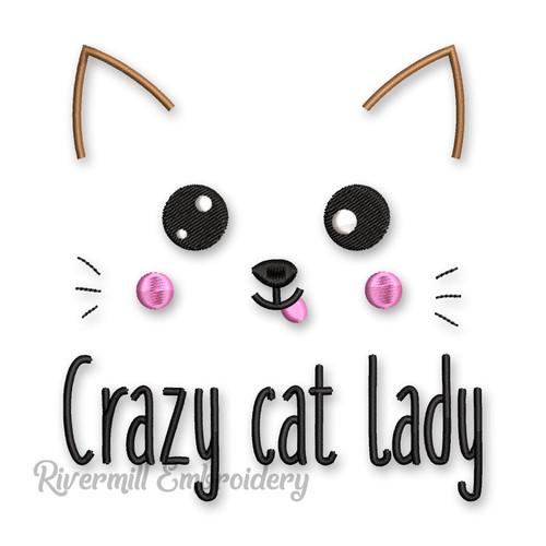 Crazy Cat Lady Machine Embroidery Design