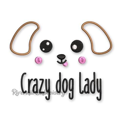 Crazy Dog Lady Machine Embroidery Design
